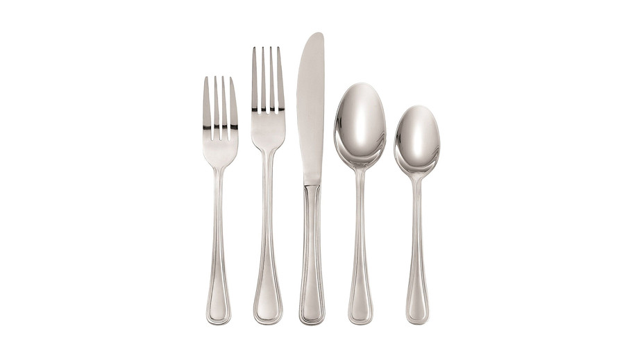 Oneida Hollis 74-Piece Flatware Set, Service for 12