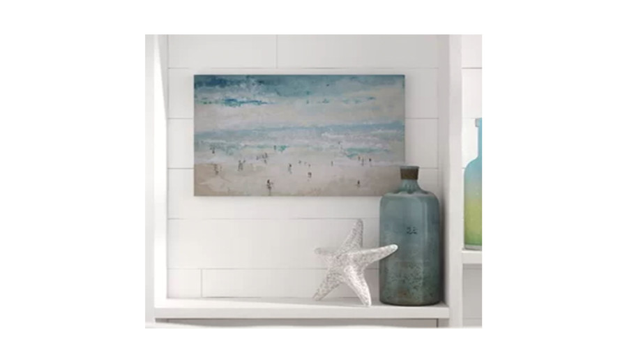 The Beach Painting Print on Canvas