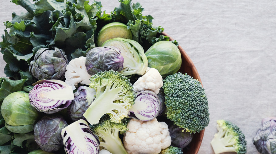 Cruciferous Vegetables: broccoli, Brussels sprouts, and Cauliflower