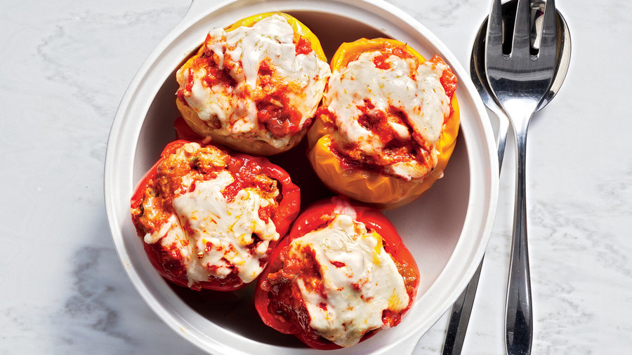 Instant Pot Turkey-Stuffed Peppers