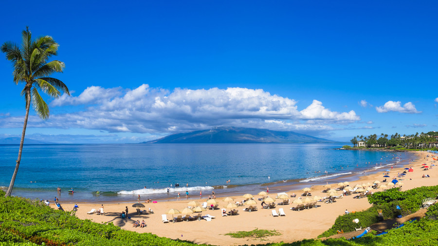 Beach on Molokai in Hawaii
