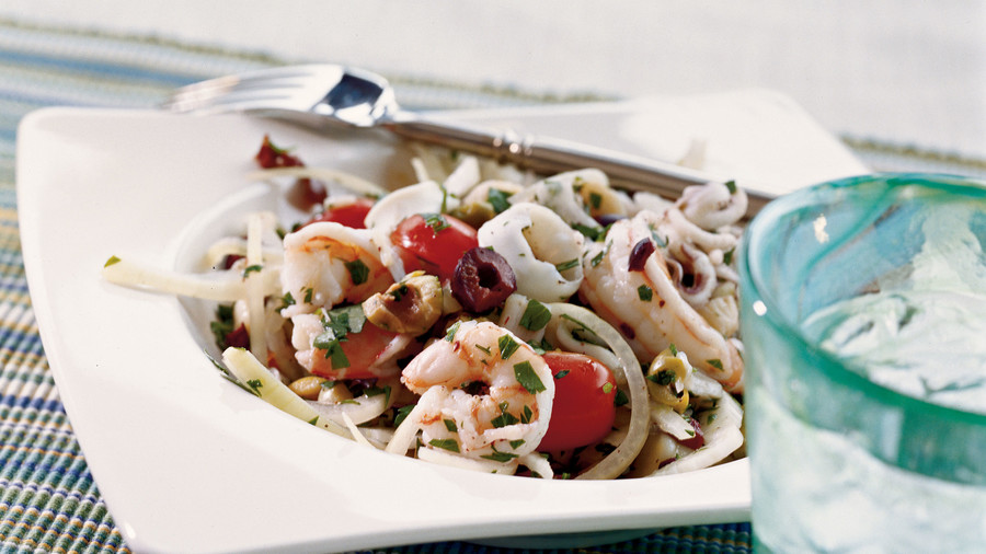 Italian Shrimp Scallop and Calamari Salad