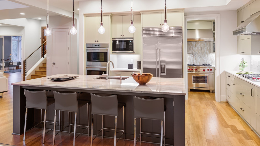 Trulia exposed lighting in kitchen