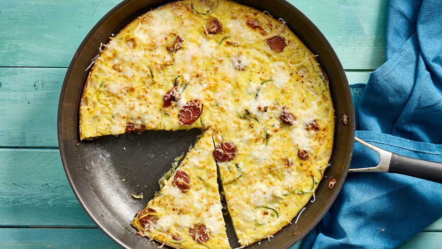 Zucchini and Red Pepper Frittata