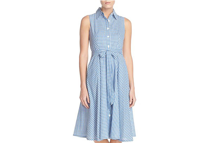 Chetta B Gingham Shirtdress