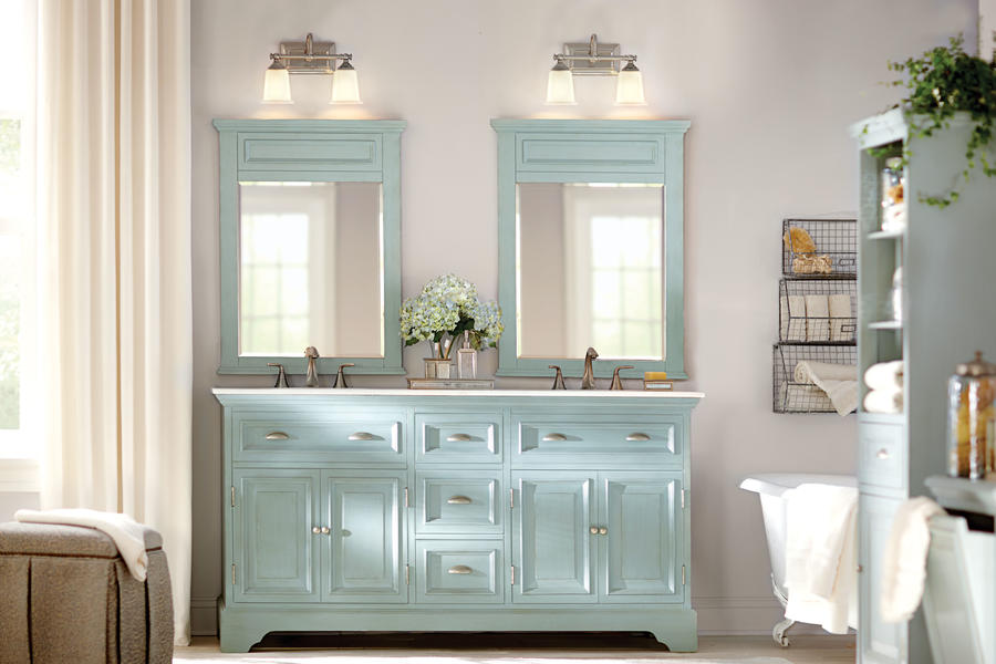 Bath vanities from home decorators collection southern living Home depot bathroom design center