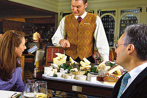 cheese cart at maestro