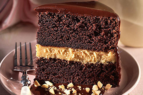 Chocolate-Peanut Butter Mousse Cake