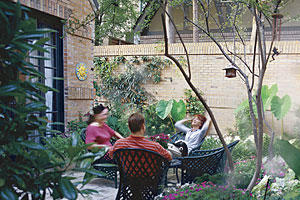 Texas courtyard inspired by New Orleans architecture