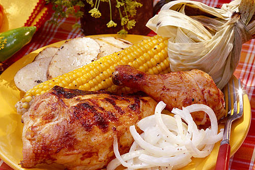 Chili-Barbecued Chicken