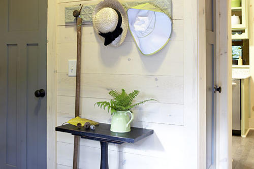 Coat Rack and a Small Table