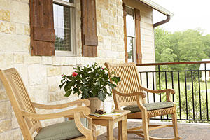 Rocking Chairs on a Front Porch