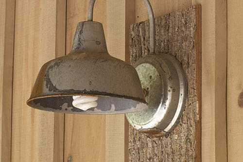 lamp and scones aged/weathered