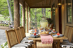 Cozy Front Porch Dining