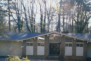 1960s Alpine Chalet Exterior: Before