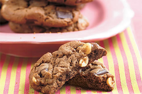 Best Cookies Recipes: Double Chocolate Chunk-Peanut Cookies Recipes