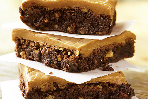 Best Cookies Recipes: Double Chocolate Brownies with Caramel Frosting Recipes