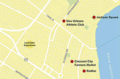 New Orleans Vacations: New Orleans map