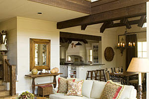 North Carolina Cottage Interiors: Family Rooms