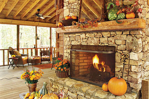 Outdoor Rooms and Outdoor Fireplaces