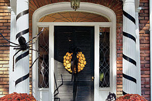 Wreath of Halloween Pumpkins