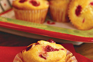 Muffins and Bread Recipes: Cornmeal-Cranberry Muffins