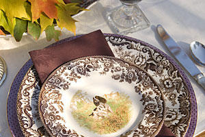 Thanksgiving Decorations: Tablesetting