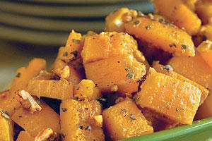 Thanksgiving Dinner Side Dishes: Glazed Butternut Squash