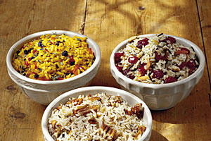 Thanksgiving Dinner Side Dishes: Saffron Rice Pilaf, Cranberry-Almond Wild Rice, Pecan Rice Recipes