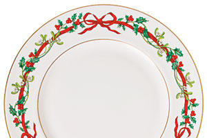 Holly Ribbon Christmas China