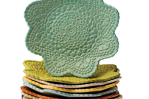 Christmas Gift Ideas: Lace Pottery Remembrance Bowls