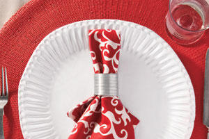Kid's Christmas Dinner Napkin Ring Ideas