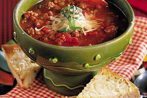 Ground Beef Recipes: Italian-Style Beef-and-Pepperoni Soup
