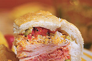 Quick and Easy Dinner Recipes: Deli Stuffed Sandwich