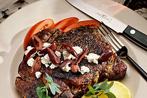 Top-Rated Main Dishes: Grecian Skillet Rib Eyes