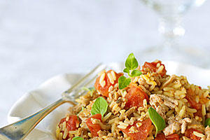 Quick and Easy Dinner Recipes: Turkey and Rice With Veggies
