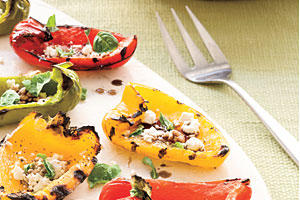 Healthy Food Recipe: Grilled Rainbow Peppers