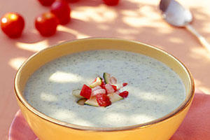 Healthy Food Recipe: Chilled Zucchini Soup With Fresh Vegetable Salsa