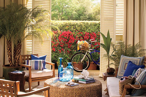 Beach Home Decorating: Try Louvered Doors