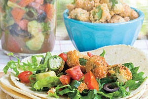 Summer Local Produce Recipes: Fried Okra Tacos