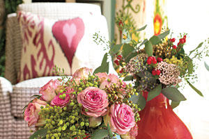 Arrange an Unexpected Mix of Flowers