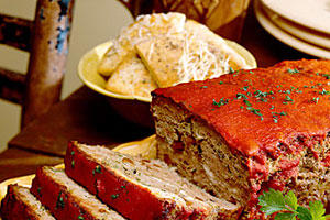 Lamb Meatloaf with Feta Cheese