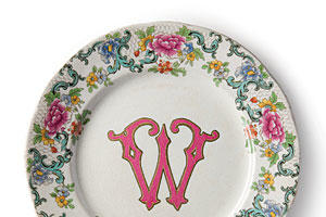 Monogrammed Plates