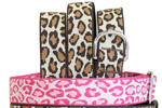 Harry Barker Pink Leopard Style Collars, Leashes, and Harnesses