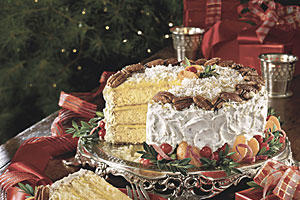 Fresh Orange Italian Cream Cake from Southern Living.