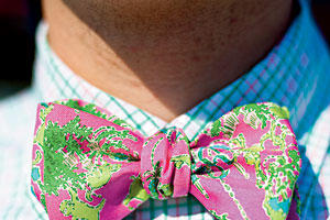 Beachy Pink Bow Tie