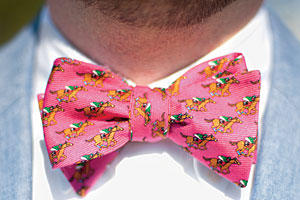 Pink Horse Race Bow Tie