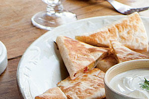 Pickled Summer Squash Quesadillas