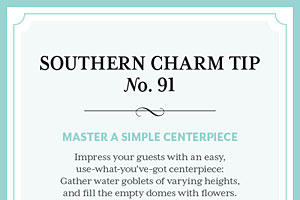Tip #91: Master a simple centerpiece