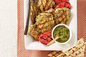 Grilled Spicy Cilantro Chicken